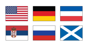 European Lineage Flags: Germany, Russia, Serbia, Yugoslavia